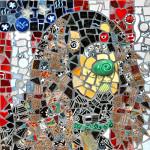 A mosaic of Tucker, A Gordon Setter