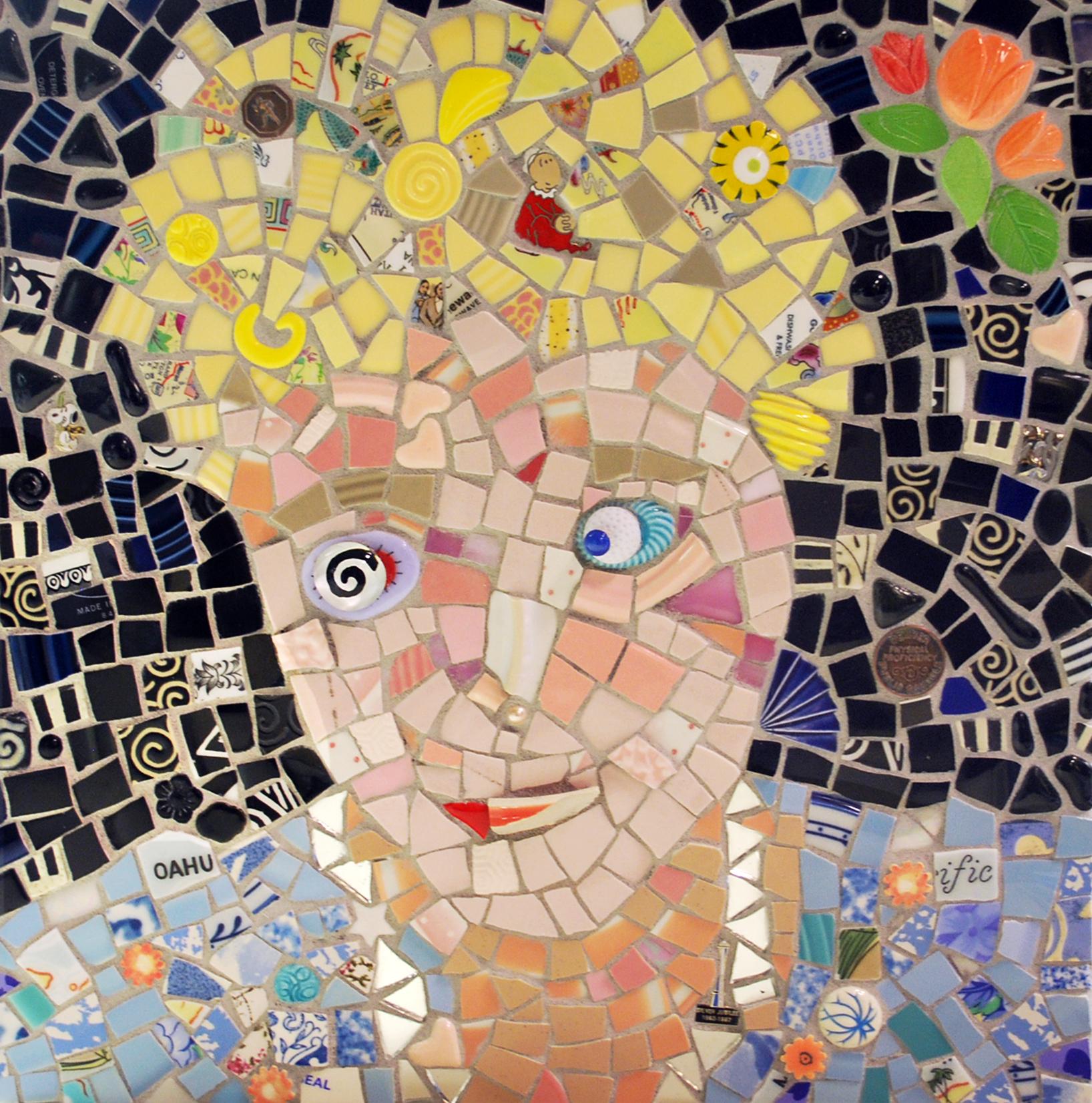 mosiac portrait of Barb