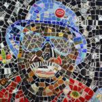 mosaic portrait of Harvey