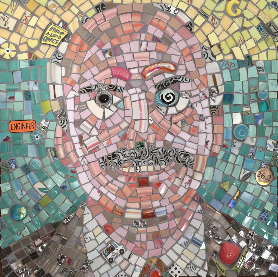 mosaic portrait of Gerald, a friend